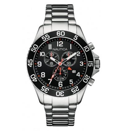 Orologio Cronografo Uomo Acciaio NST 19
