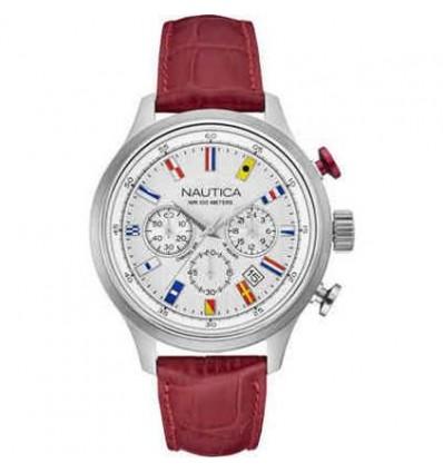 Orologio in Pelle Rosso Cronografo con Datario NCT 16