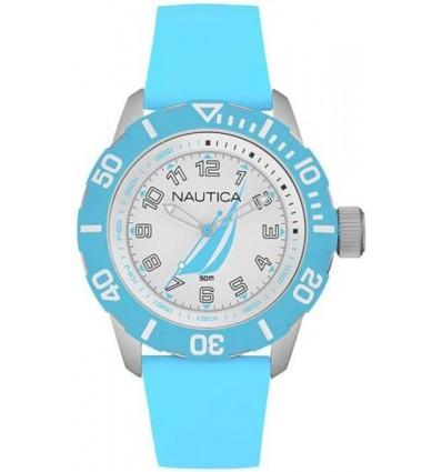 Orologio Solo Tempo Uomo in Silicone Azzurro NAI 08515G