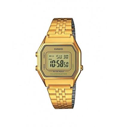 Orologio Digitale Donna In Acciaio Gold