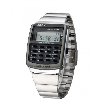Orologio Digitale Calcolatrice In Acciaio Uomo