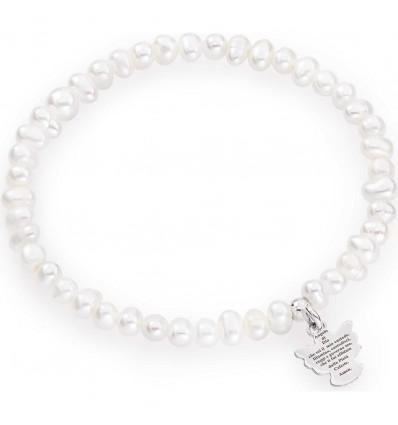 Bracciale Donna In Perle Con Angioletto Amen