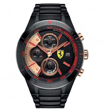 Orologio Uomo Cronografo Acciaio Nero