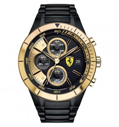 Orologio Cronografo Uomo Acciaio Nero