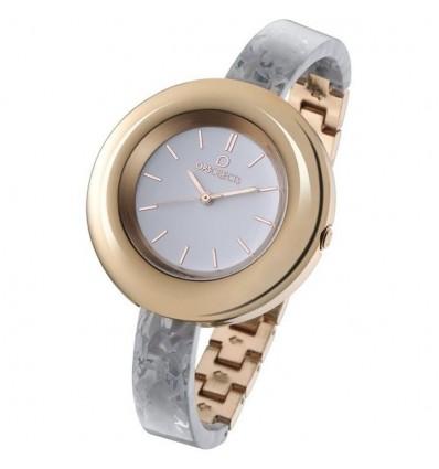Orologio Solo Tempo Donna Lux Marble Bianco