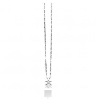 Collana Puntoluce In Oro Bianco E Diamante