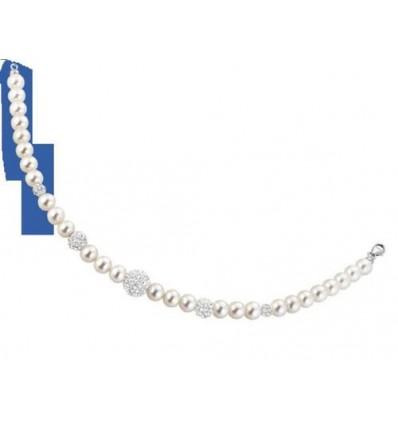 Bracciale Perle In Oro Bianco