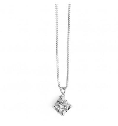 Collana In Oro Con Diamante