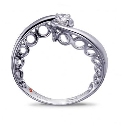 Anello Solitario Fantasia Con Diamante