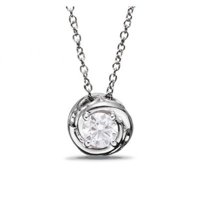 Collana In Oro Bianco Con Diamante