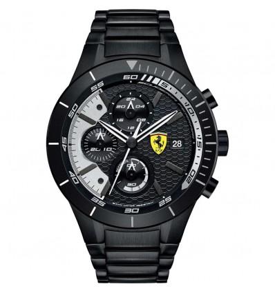 Orologio Solo Cronografo Acciaio Nero