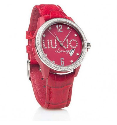 Orologio Donna In Pelle Con Strass Colorati