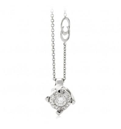 Collana In Oro Bianco Con Diamanti Chimento
