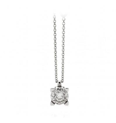 Collana In Oro Bianco E Diamanti Chimento