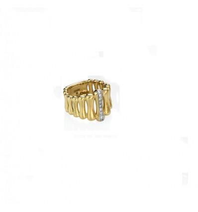 Anello In Oro Giallo Con Diamanti Chimento