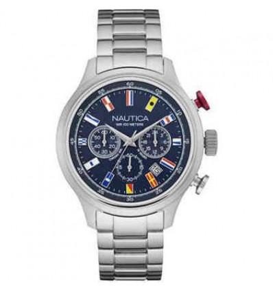 Orologio Cronografo Multifunzione In Acciaio Uomo NCT 16 Flag