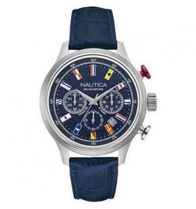 Orologio In Pelle Blu Cronografo con Datario NCT 16
