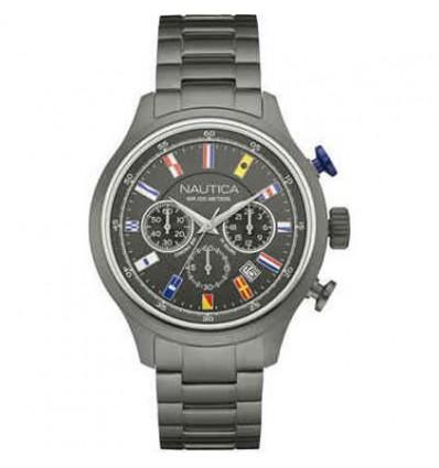 Orologio in Acciaio brunito Cronografo con Datario NCT 16.