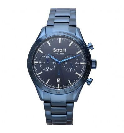 Orologio uomo stroili cronografo in acciaio blu